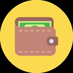 icono billetera ahorro
